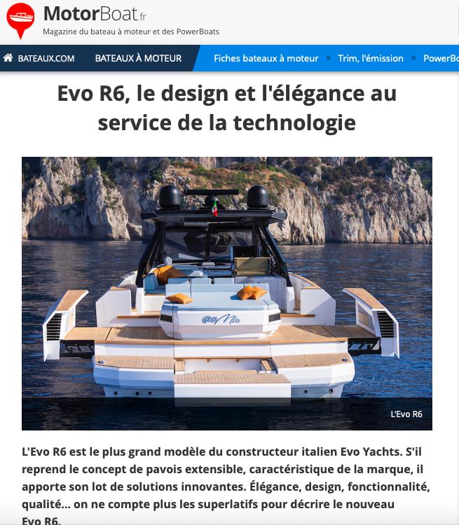 bateaux Evo R6