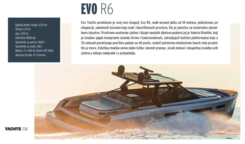 Yachts Croatia evo r6